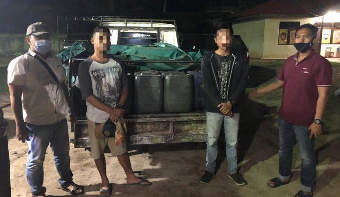 Petugas Ditreskrimsus Polda Kalbar berhasil mengungkap penimbun BBM Subsidi di Bengkayang yang dijual ke penambang PETI.