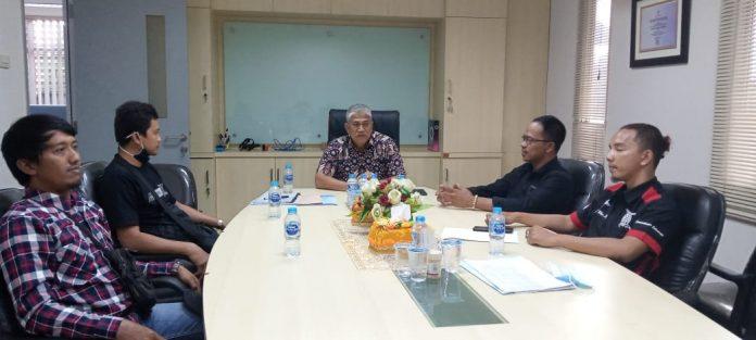 Pengurus TMWB saat datang ke PT Jasa Raharja Putra untuk bekerja sama asuransi.