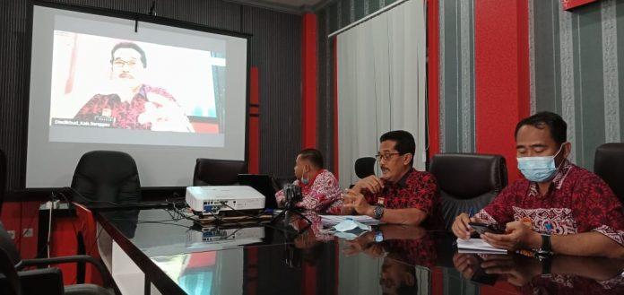Launching Sekolah Lawan Corona di Kabupaten Sanggau yang dilakukan secara virtual.