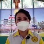 Ketua DPC Ikatan Sarjana Katolik Indonesia (ISKA) Sanggau, Susana Herpena.