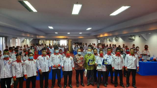 Anggota BPD yang tergabung dalam Abpednas Kabupaten Kubu Raya mengikuti Bimtek yang dihadiri juga dari Ketapang, Sanggau, Wabup Kubu Raya dan Assisten I Setda Pemkot Singkawang.