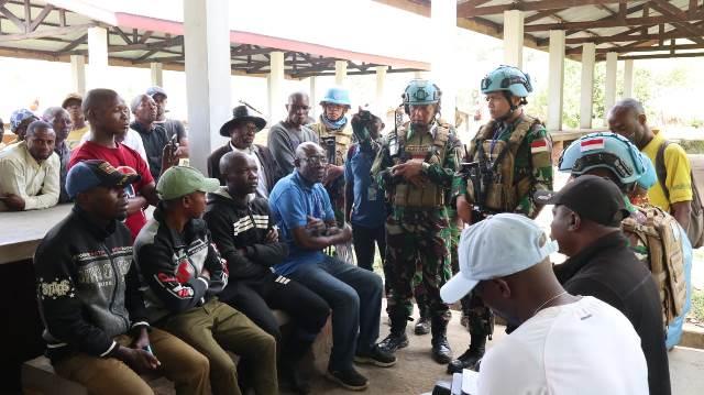 Satgas TNI Kontingen Garuda XXXIX-C Rapidly Deployable Battalion (RDB) MONUSCO Kongo berhasil menurunkan milisi berikut dengan persenjataannya di Kongo