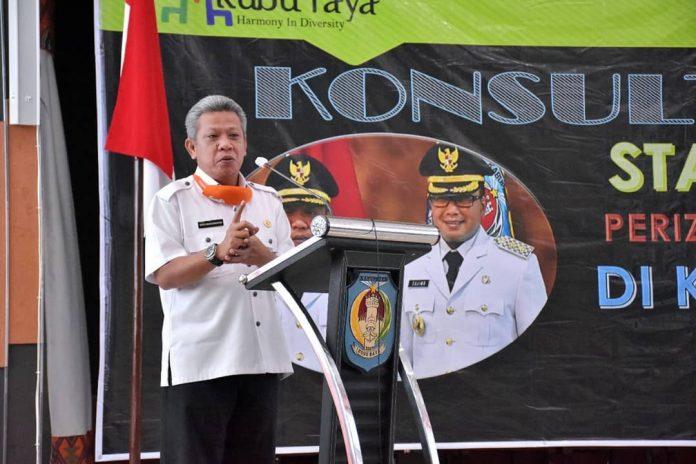 Bupati Kubu Raya akan meneerbitkan regulasi lokasl perijinan berbasis resiko turunan dari UU Cipta Kerja