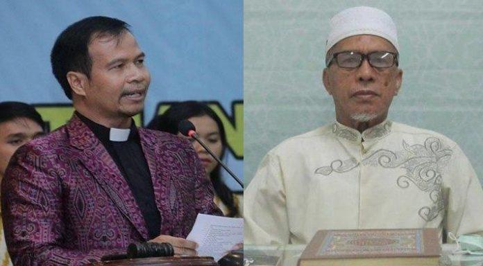 Ketua PGIW Kalbar Pdt. Paulus Ajong dan Ketua MUI Kalbar H.M Basri Har