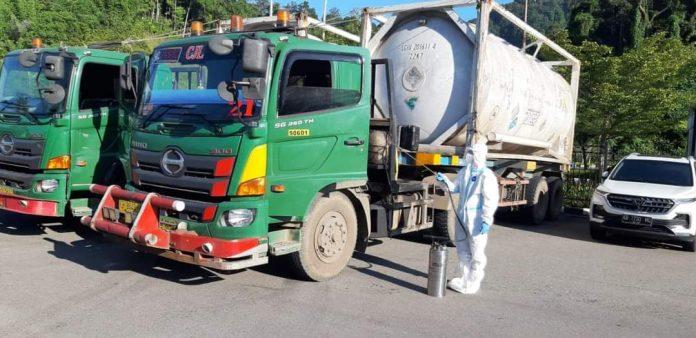 Kalbar impor oksogen dari Malaysia yang telah masuk melalui PLBN Entikong Kabupaten Sanggau.