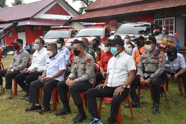 Launching Asap Digital oleh Kapolri yang diikuti secara virtual oleh Kapolres dan Bupati Kubu Raya di Markas Daops Manggala Agni.