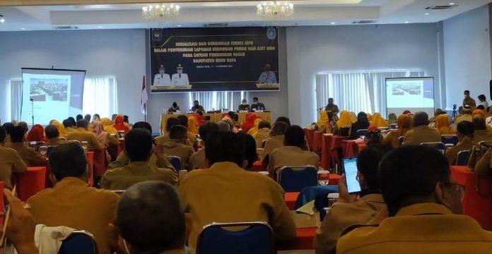 Bupati Kubu Raya menghadiri Bimtek SIPD bagi kepala SMP dan SD Negeri se Kubu Raya.