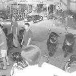 Aksi pemukulan yang dilakukan Lurah Beringin terhadap salah satu warga.